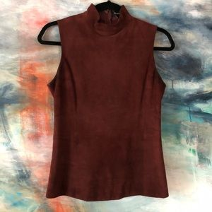 Theory suede turtleneck *stains